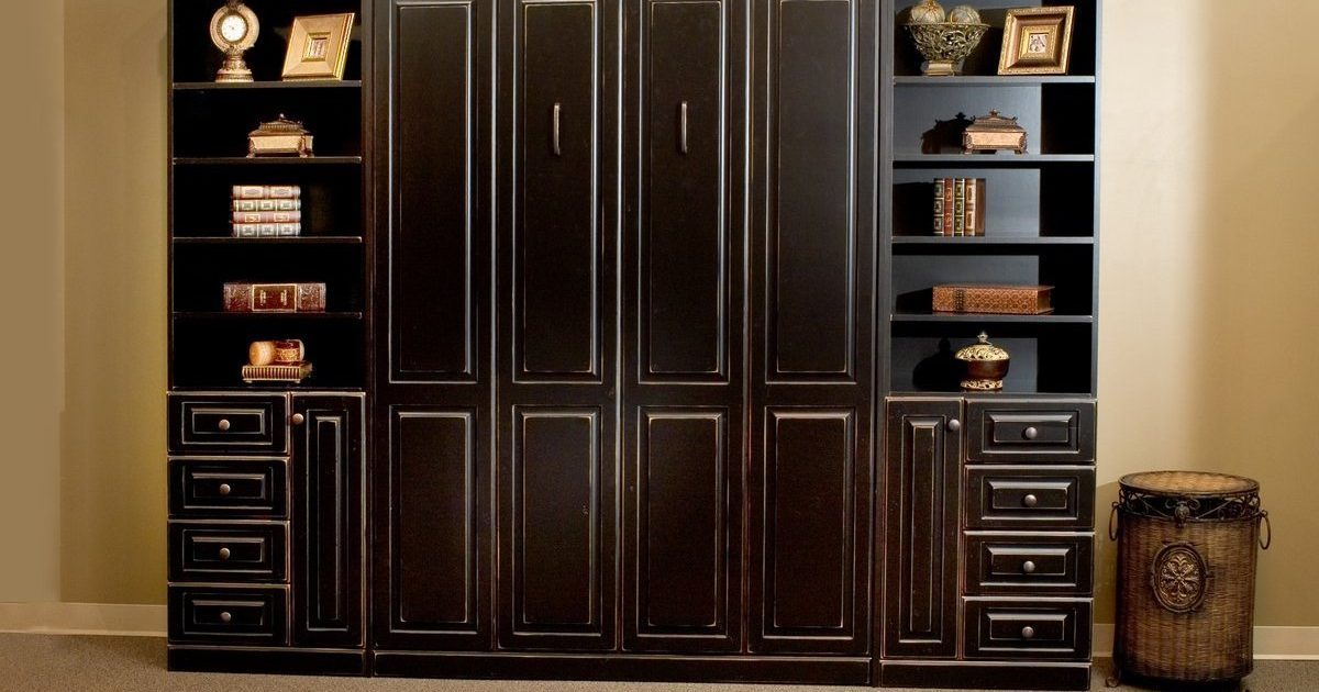 custom dark murphy bed