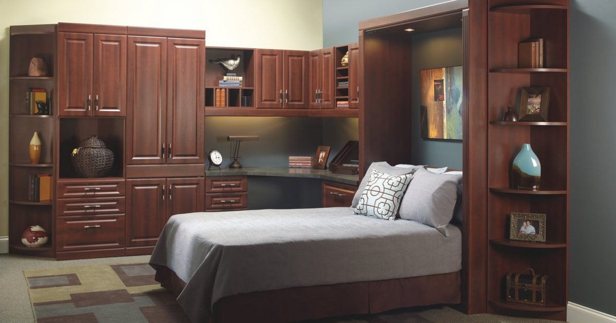 north hampton cherry home office and murphy bed