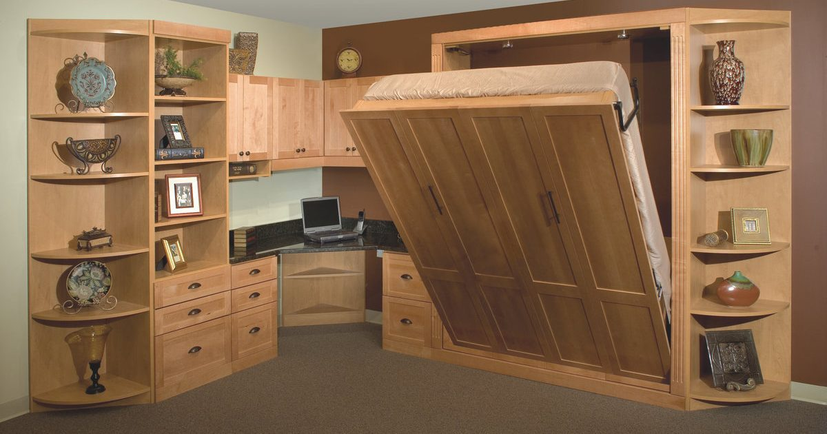 home office and murphy bed