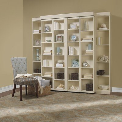 White Shelves And Murphy Bed