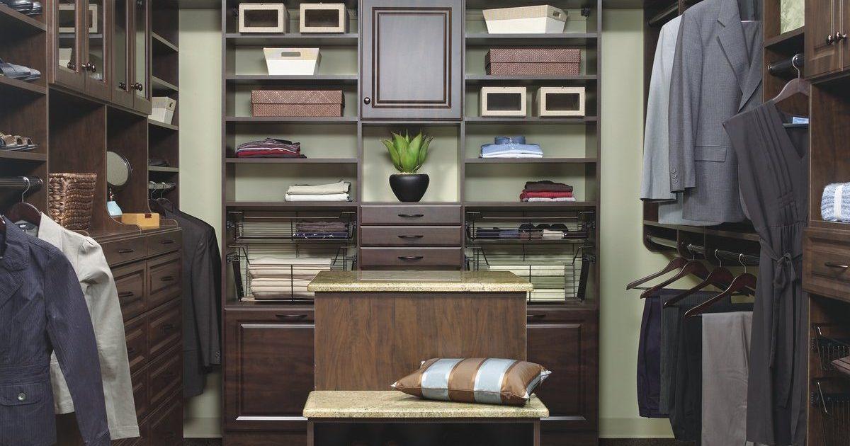 chocolate closet organizer system