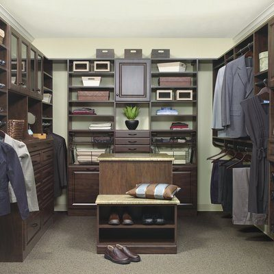 chocolate closet organizer system for men