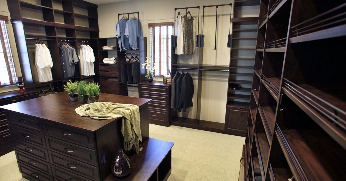 chocolate closet organizer and storage system