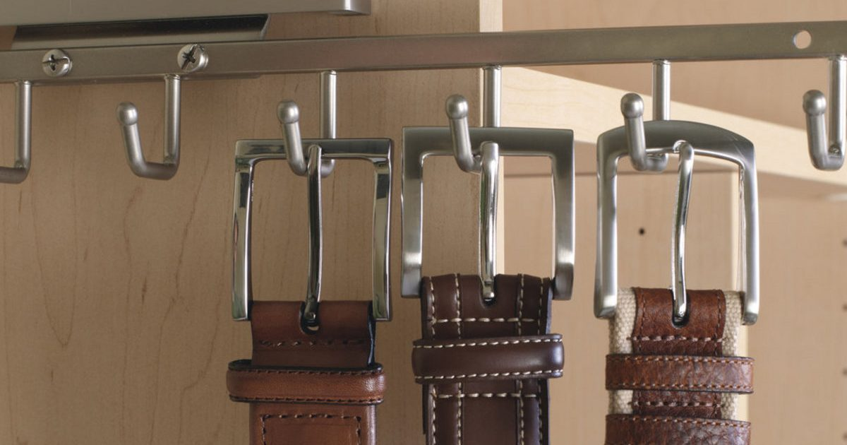 belt rack accessory for closet