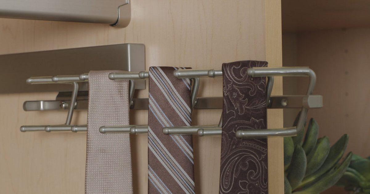 tie rack accessory for closet