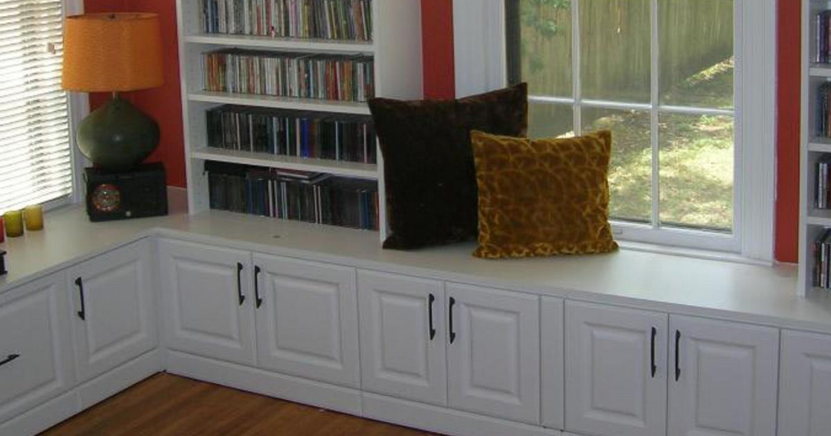 custom built in white cabinet