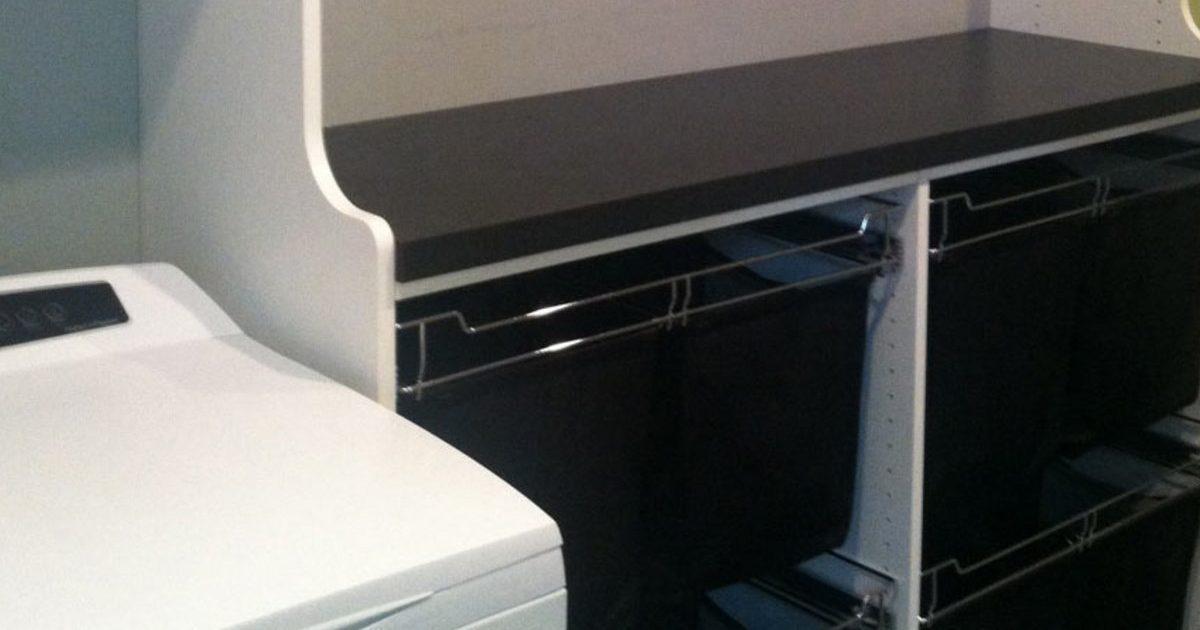custom laundry storage