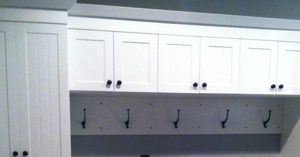 custom white utility storage