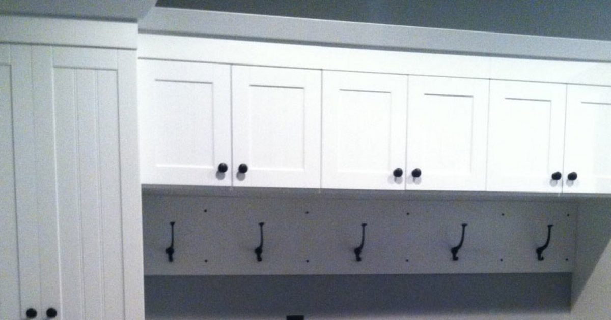 custom white utility storage
