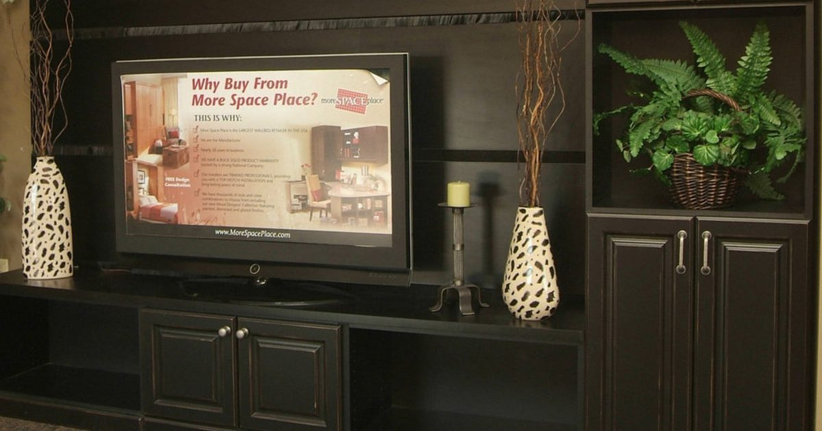 entertainment unit with added storage