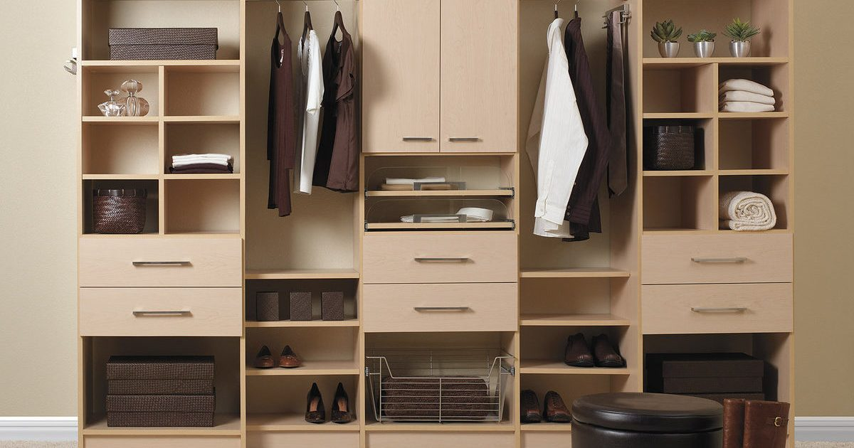 Natural Maple closet organizer system