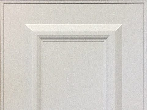 white traditional style cabinet